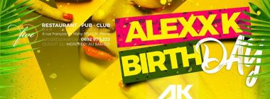Alexx K birthday - Vendredi 13 Octobre au Five