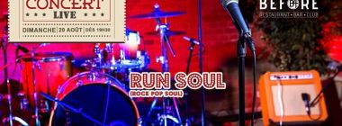 Concert LIVE avec Run Soul (rock/pop/soul)